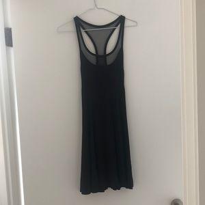 NWOT Silence + Noise Black Racer Back Dress, S